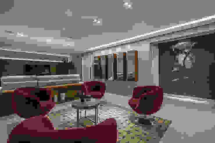 Projeto Apartamento Luxemburgo Salas de estar modernas por Laura Santos Design Moderno