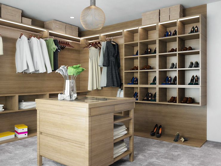 Scandinavian style dressing room by ONE STUDIO Scandinavian