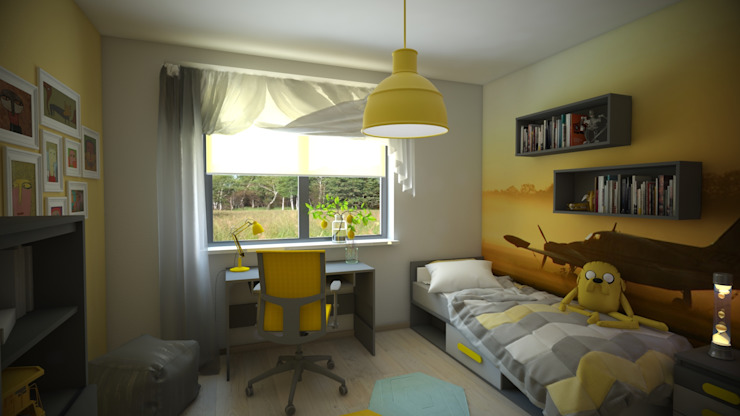 Intus DSGN Nursery/kid's room Yellow