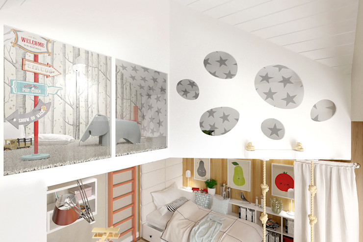 ONE STUDIO Scandinavian style nursery/kids room