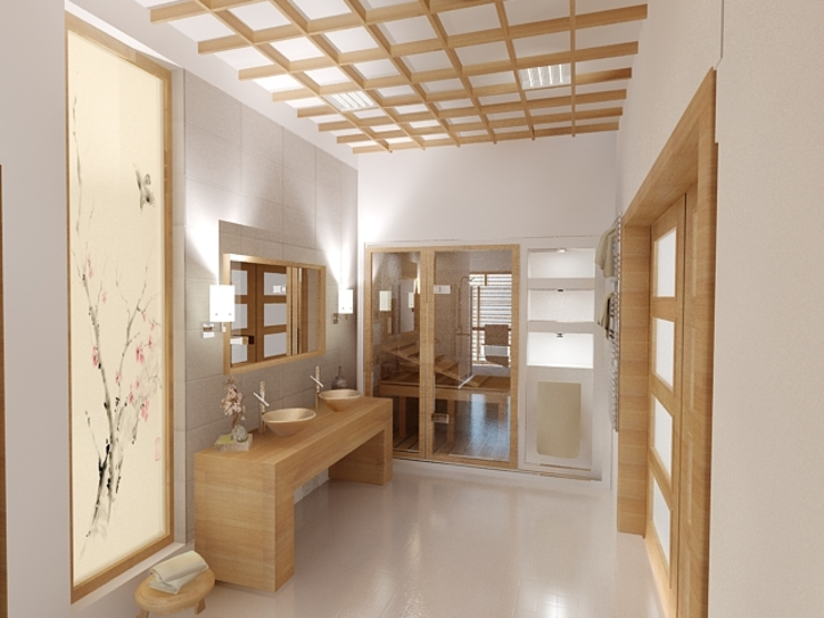 Asian style bathroom by INTUS DeSiGn Asian