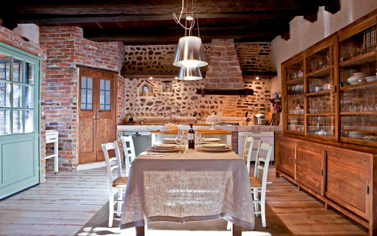 Rustic style kitchen by Fabio Carria Rustic