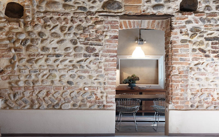 Rustic style dining room by Fabio Carria Rustic