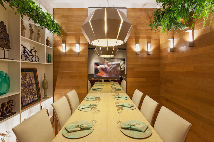 Mostra - Casa Cor Minas - Sala de Jantar e Adega Laura Santos Design Salas de jantar modernas