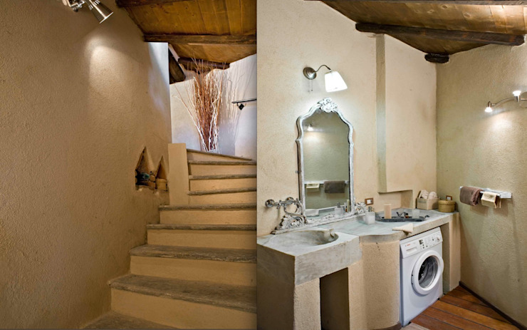 Rustic style bathroom by Fabio Carria Rustic