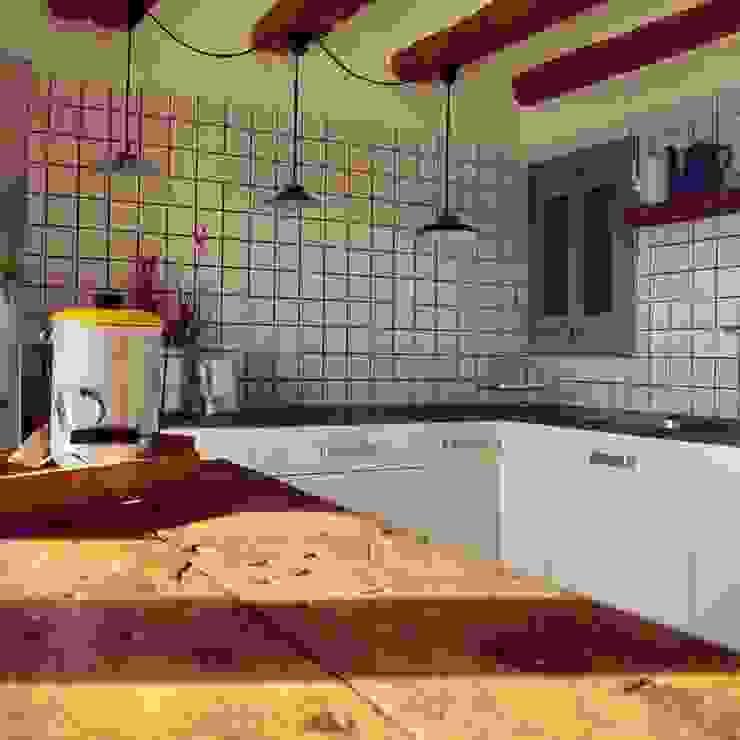 Cozinhas campestres por raddi ARQUITECTES Campestre Madeira Acabamento em madeira