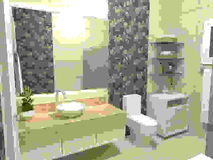 Banheiro da Suíte Banheiros modernos por Ana Luci Moro Arquitetura Moderno Cerâmica