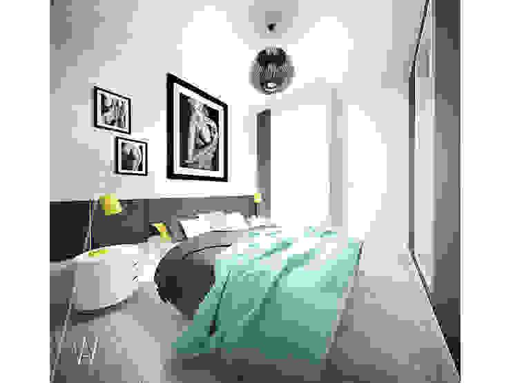 스칸디나비아 침실 by AAW studio 북유럽