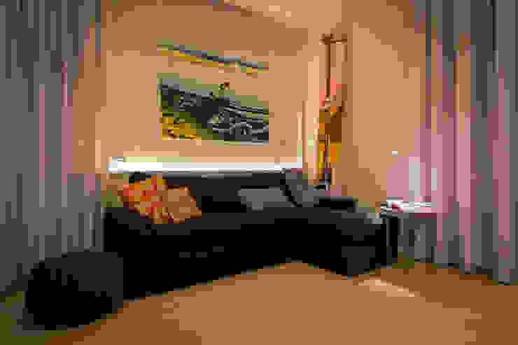غرفة المعيشة تنفيذ davide pavanello _ spazi forme segni visioni, حداثي