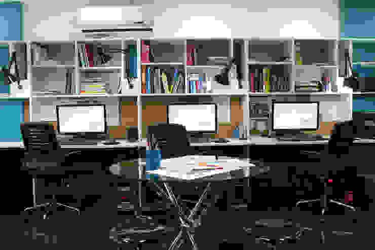 Puestos de Trabajo / Biblioteca 5D Proyectos Salas de entretenimiento de estilo moderno
