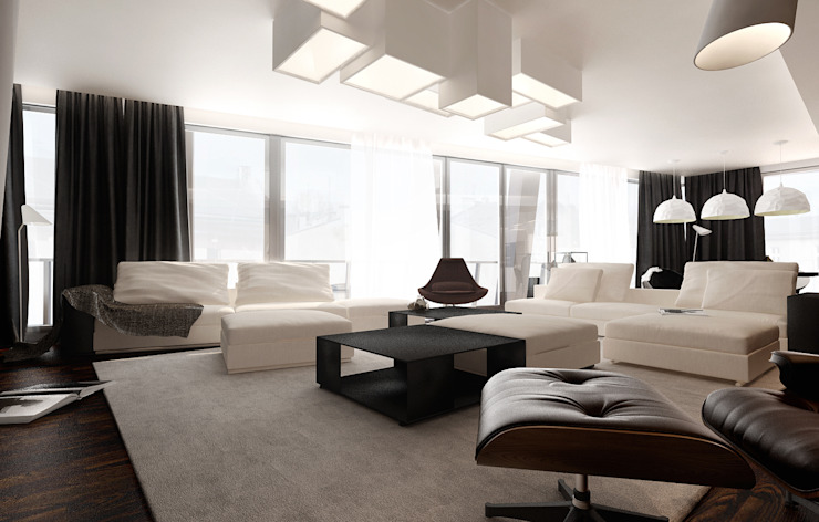 Salas de estilo  por KONZEPT Architekci, Minimalista