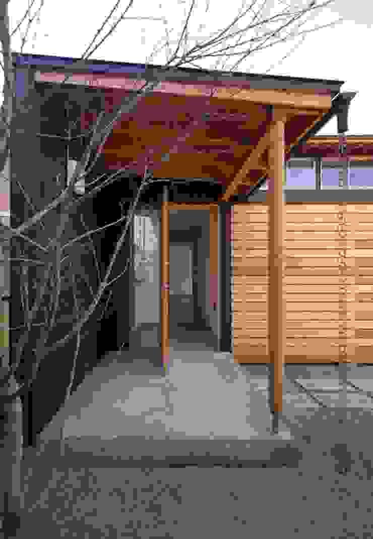 玄関 オリジナルスタイルの 玄関&廊下&階段 の 早田雄次郎建築設計事務所/Yujiro Hayata Architect & Associates オリジナル 木 木目調