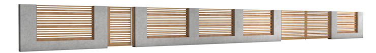 Nive Garden Fencing & walls Aluminium/Zinc Multicolored