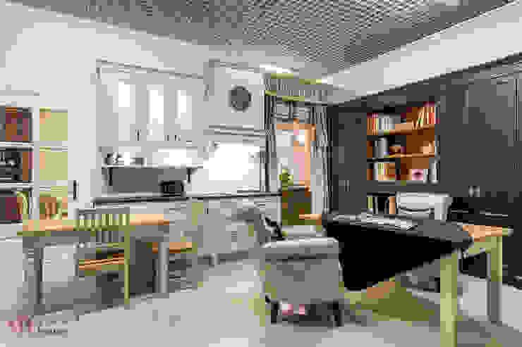 Meble kuchenne z kolekcji Monako od Arino House Sp. z o. o. Skandynawski Drewno O efekcie drewna