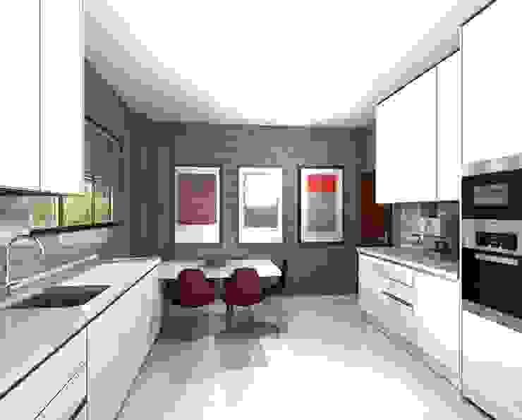 PROJETO AV MONTEVIDEU PORTO Cozinhas modernas por 3dogma mobiliário de cozinha Moderno