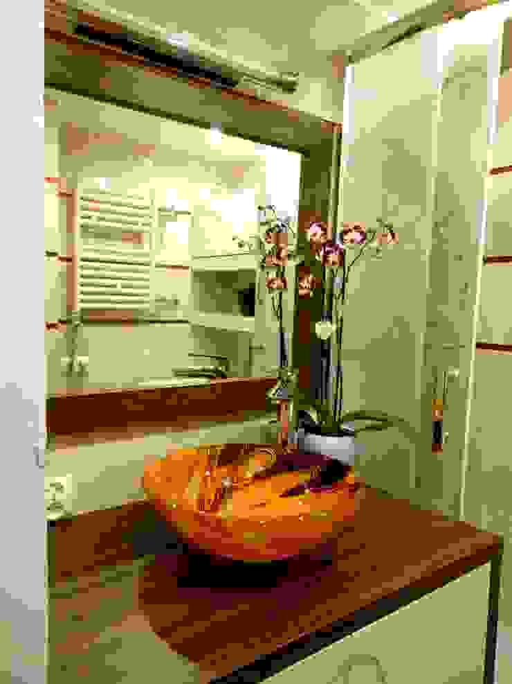 Łazienka Nowoczesna łazienka od archJudyta Aranżacja Wnętrz Nowoczesny Płytki