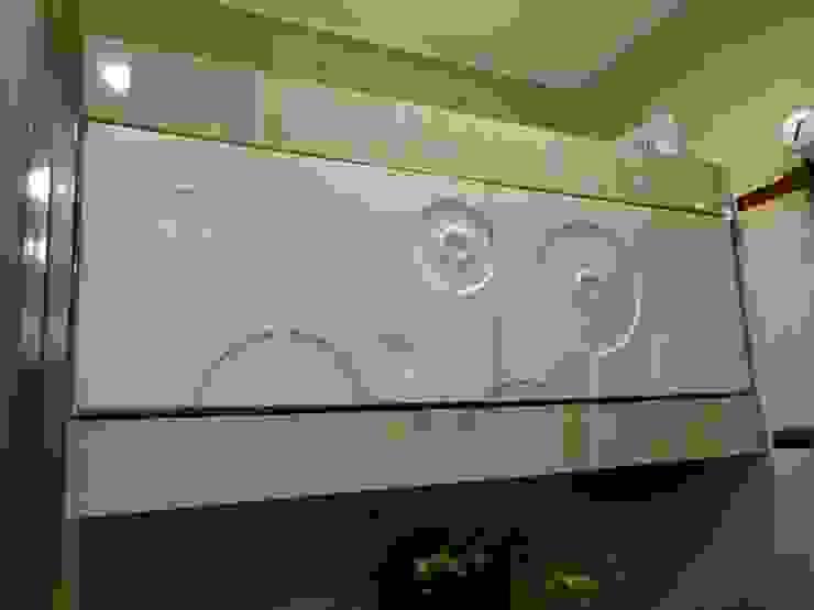 Realizacja małej łazienki Nowoczesna łazienka od archJudyta Aranżacja Wnętrz Nowoczesny Płytki