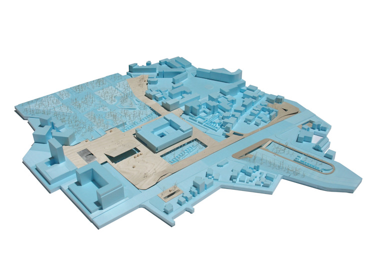 Vista geral da maqueta da proposta por FORA Arquitectos