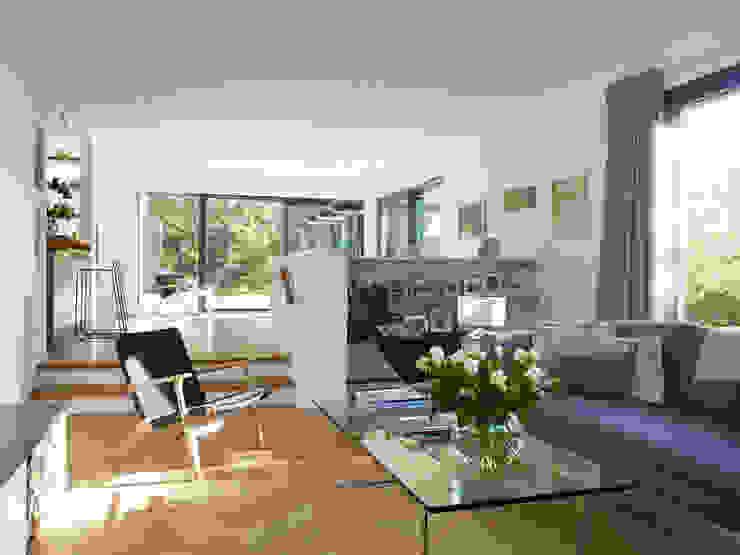 Living room by Baufritz (UK) Ltd.