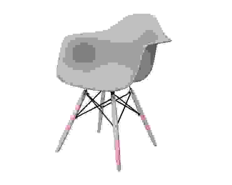 Krzesło z drewnianymi nogami, mild grey od onemarket.pl Skandynawski Plastik