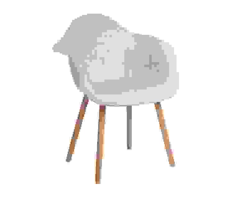 Krzesło CosyArm tapicerowane ecru od onemarket.pl Skandynawski Tekstylia Złoty