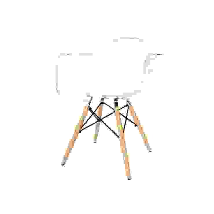 Krzesło Eiffel Wood Arm Transparentny od onemarket.pl Skandynawski Syntetyk Brązowy