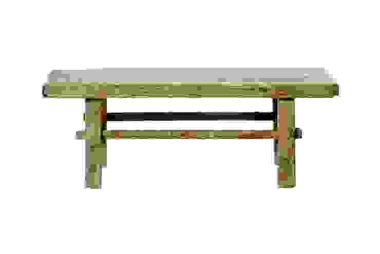 Drewniany stolik kawowy 110-120 cm od onemarket.pl Skandynawski Drewno O efekcie drewna