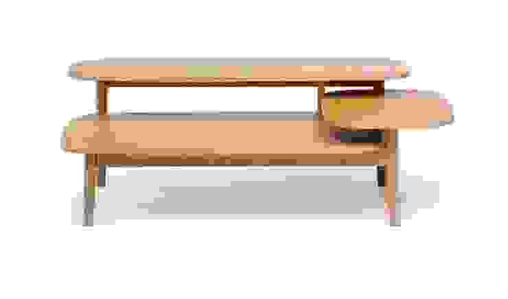 Oryginalny stolik kawowy Eichberg od onemarket.pl Skandynawski Drewno O efekcie drewna