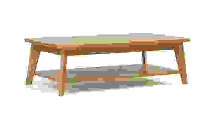 Oryginalny stolik kawowy Kensal od onemarket.pl Skandynawski Drewno O efekcie drewna
