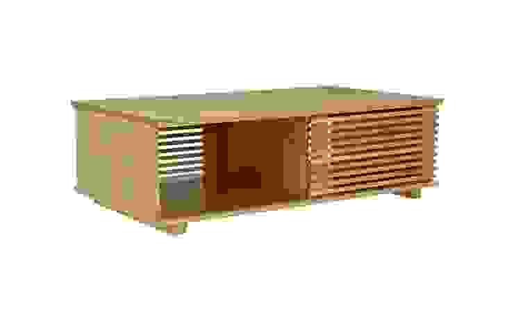 Oryginalny stolik kawowy Putney przesuwne drzwiczki od onemarket.pl Skandynawski Drewno O efekcie drewna