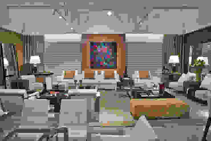 lounge - estar e receber Salas de estar modernas por rafael egg arquitetura Moderno Madeira Efeito de madeira