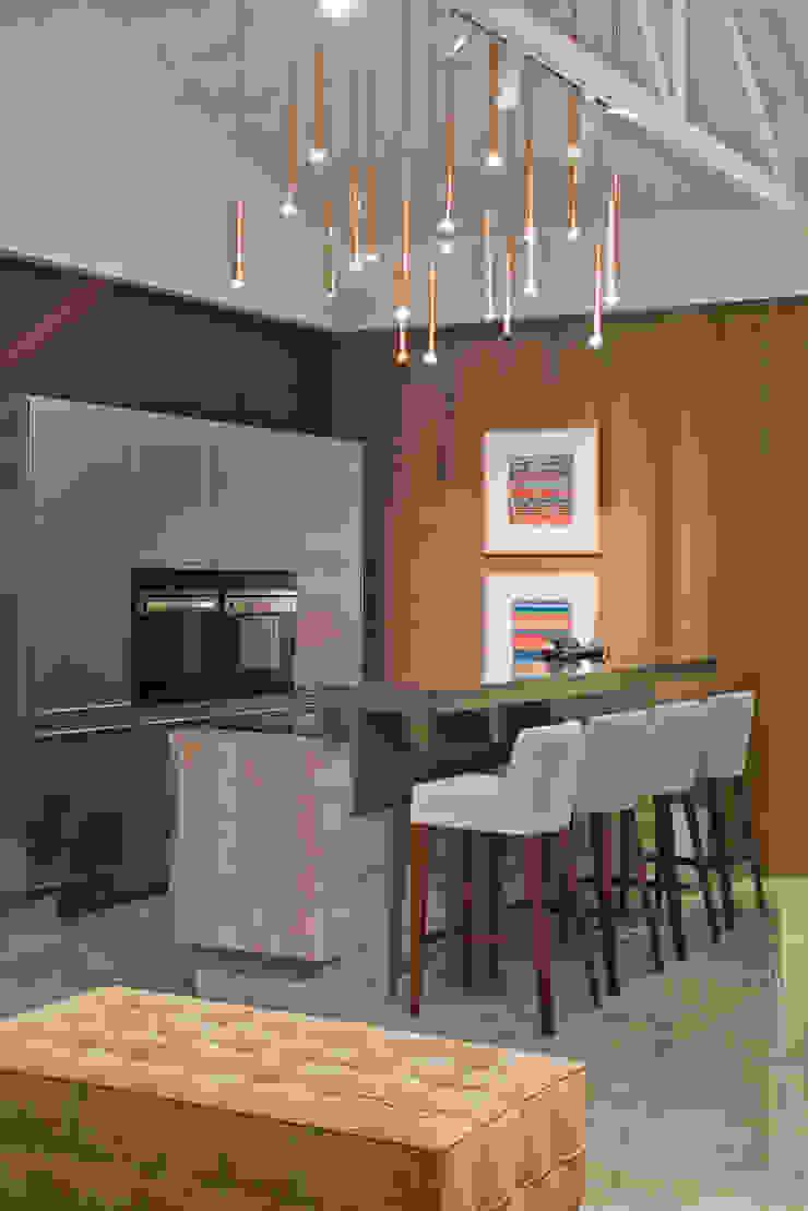 detalhe cozinha gourmet Cozinhas modernas por rafael egg arquitetura Moderno Metal