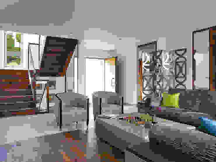 Projekty,  Salon zaprojektowane przez Baufritz (UK) Ltd., Nowoczesny