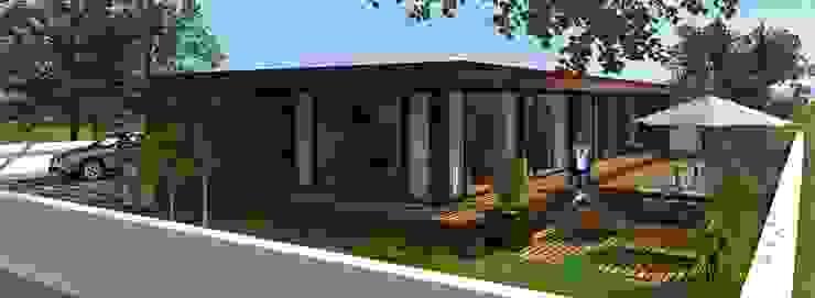 Casa de madeira Lethes House em Ponte de Lima Casas modernas por Lethes House Moderno Madeira Acabamento em madeira