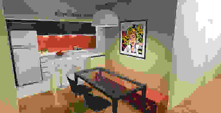 APARTAMENTO URBANO Salas de jantar modernas por Maxma Studio Moderno