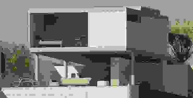 casa pilotis Casas modernas por GNC arquitetura e interiores Moderno