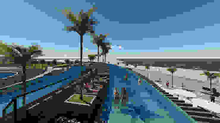 Sun Sol Playa el Agua de NOGARQ C.A. Moderno