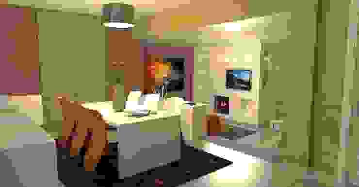 Vista del soggiorno - living room view Soggiorno moderno di Planet G Moderno