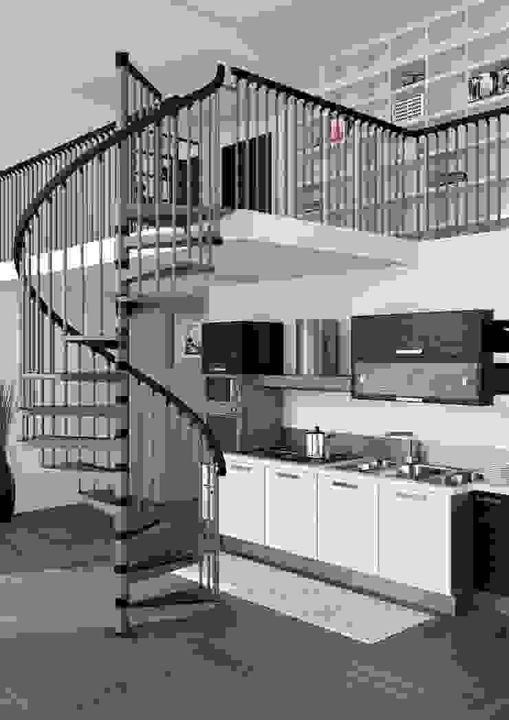 RINTAL Corridor, hallway & stairsStairs Metal Metallic/Silver