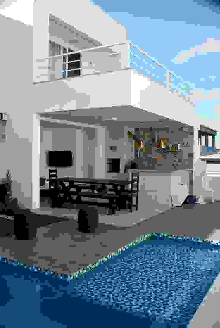 Espaço Gourmet Varandas, alpendres e terraços modernos por WB Arquitetos Associados Moderno