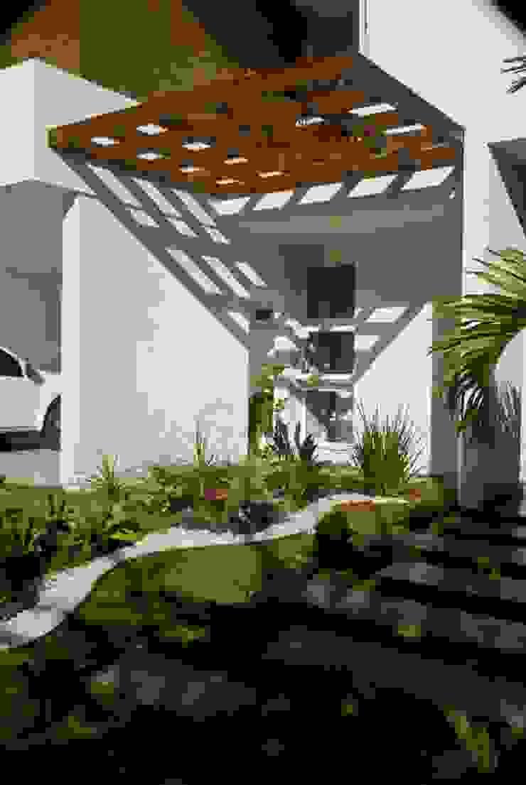 Acesso social Jardins modernos por WB Arquitetos Associados Moderno