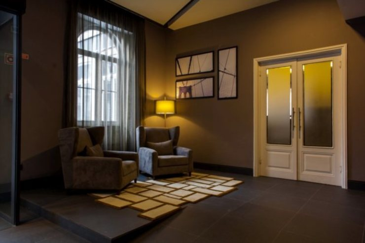 Hotel Bienestar Termas de Vizela Corredores, halls e escadas modernos por Rb - representações Moderno