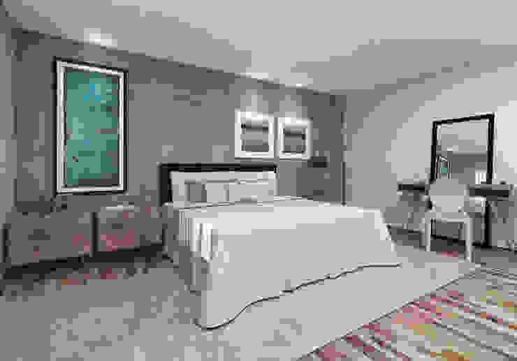 Minimalist bedroom by Teia Archdecor Minimalist Concrete