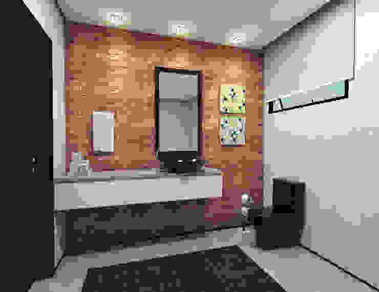 Lavabo Banheiros ecléticos por Teia Archdecor Eclético Tijolo