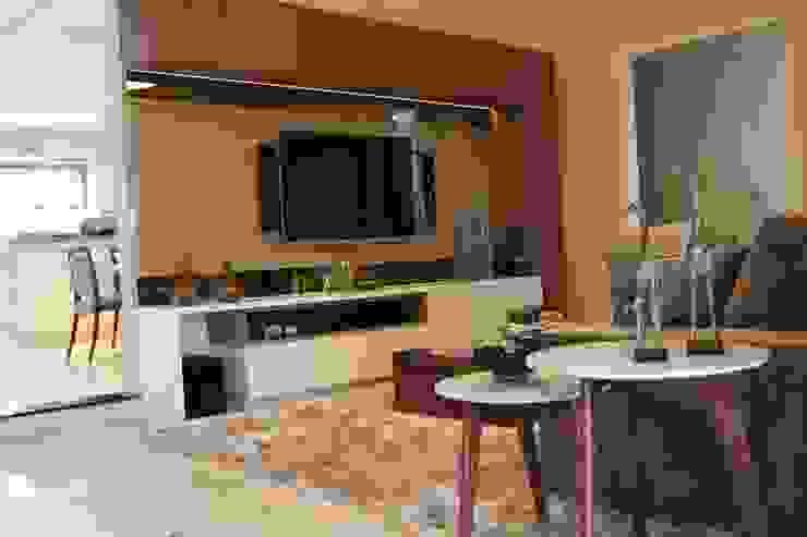 Sala de estar e jantar - Inspiração Turquesa Salas de estar modernas por Daiana Oliboni Design de Interiores Moderno