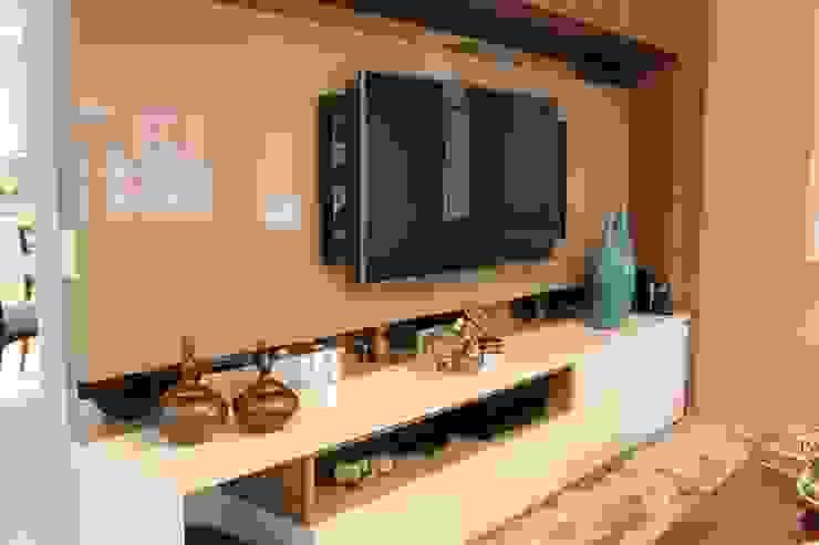 Sala de estar e jantar – Inspiração Turquesa Salas de estar modernas por Daiana Oliboni Design de Interiores Moderno