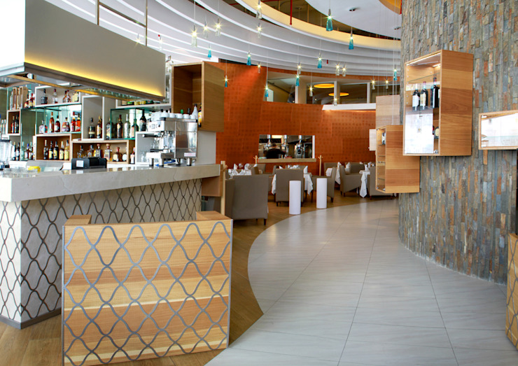 Restaurante El puntal Cocinas modernas de DIN Interiorismo Moderno