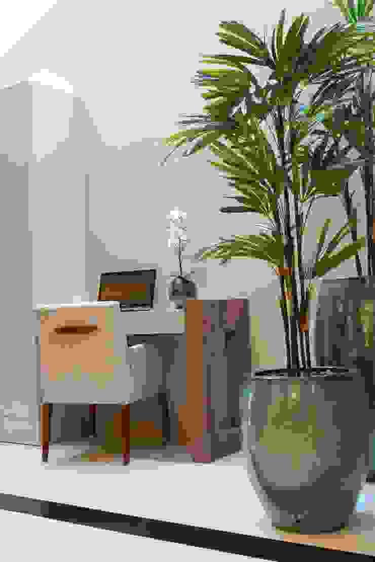 Sala de estar e jantar – Inspiração Turquesa Escritórios modernos por Daiana Oliboni Design de Interiores Moderno