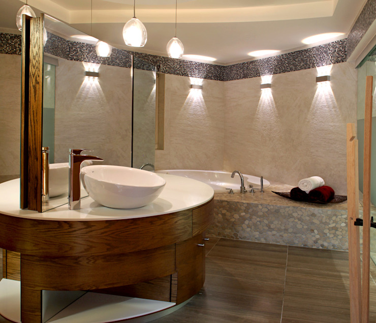 DIN Interiorismo Modern style bathrooms