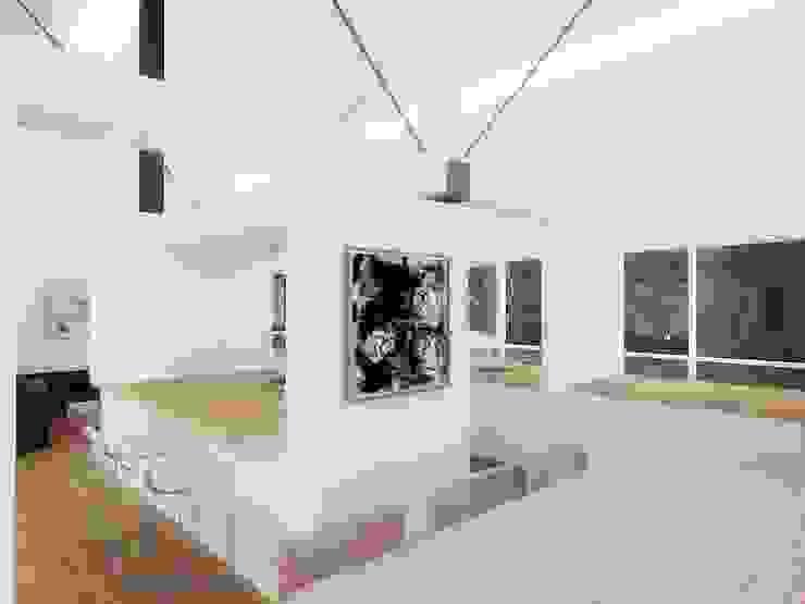 Casa – Taller RRA Arquitectura Comedores de estilo minimalista Madera Blanco